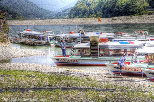 瀞峡のジェット船