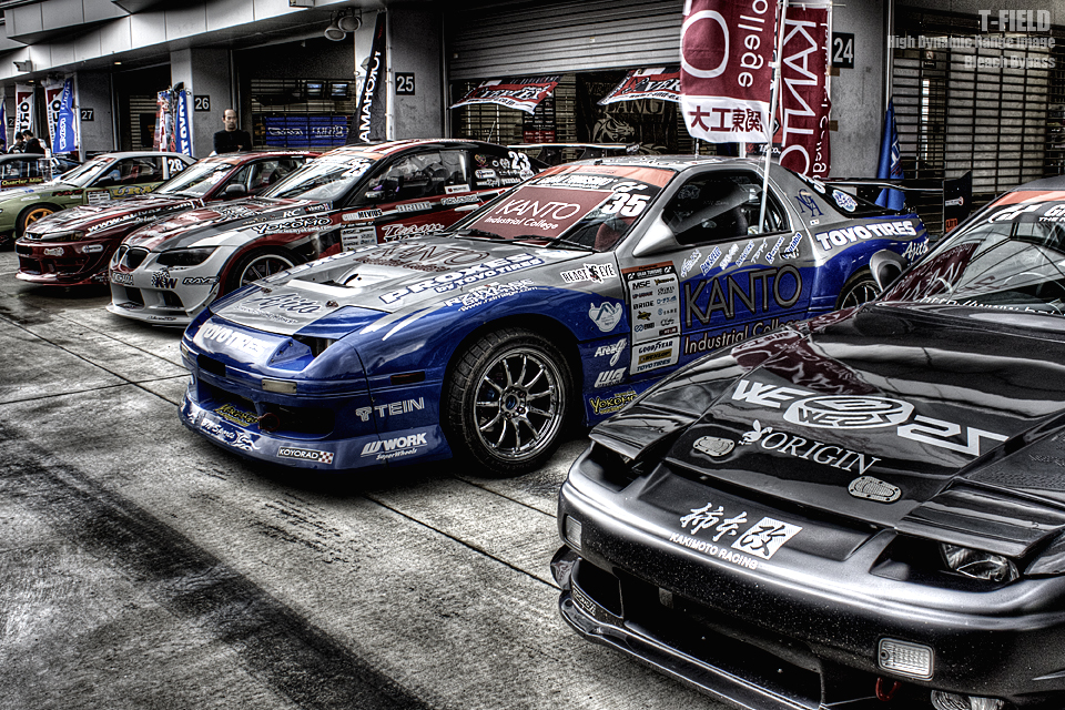D1GP Round 8 in Fuji ピットウォーク HDR+BleachBypass