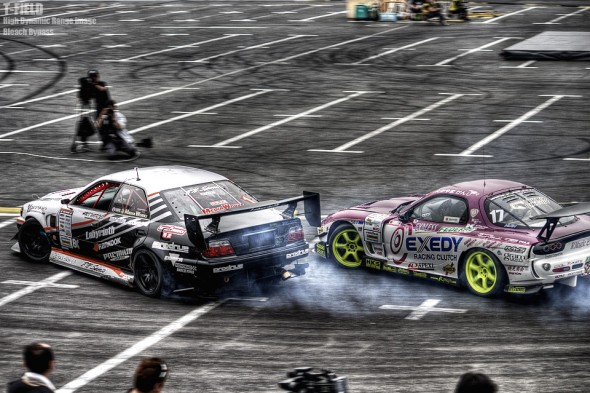 斎藤太吾 マークII vs たかやま けんじ RX-7 (HDR+BleachBypass)