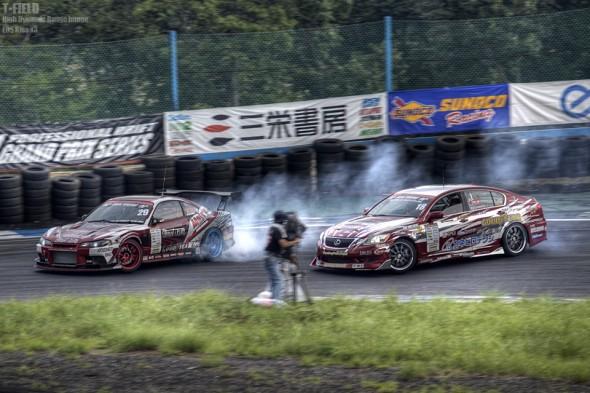 D1GP 2011 エビス 追走1st 田中一弘S15 vs 廣田友和GS350