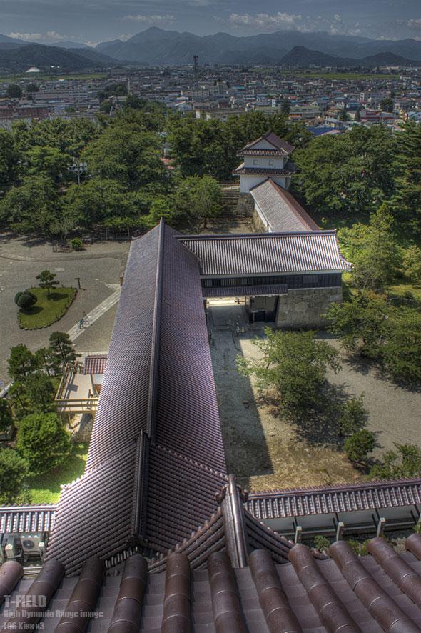 鶴ヶ城天守からの眺め