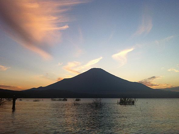 山中湖の夕焼け