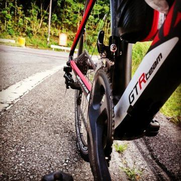 長尾峠7月9日午後のロードバイク